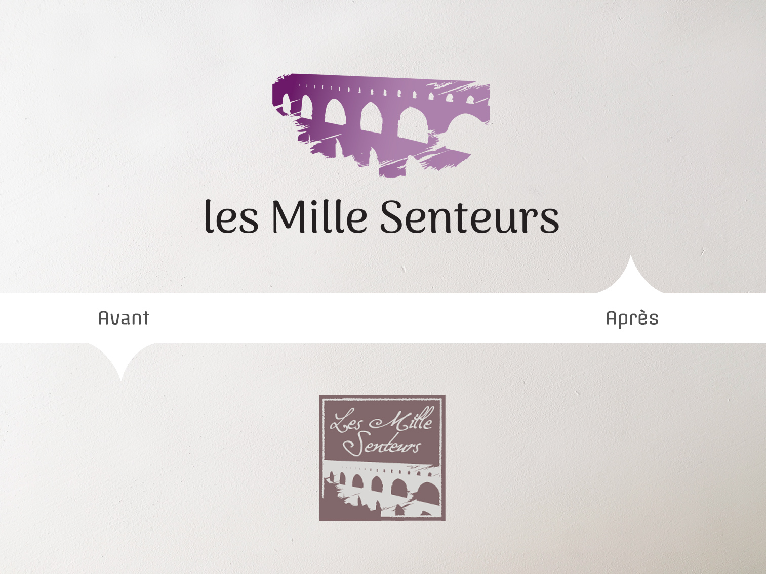 conception logo Mille Senteurs