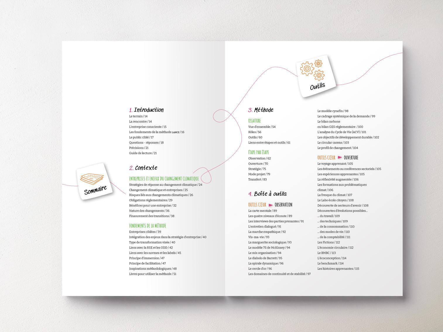 Livre Méthode Lance pages sommaire